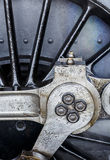 Abstract Steam Train Wheel Royalty Free Stock Photos