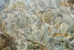 Abstract Steampunk Background Stock Photography