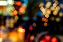 Abstract stedelijk nachtlicht bokeh Royalty-vrije Stock Afbeeldingen