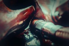 Abstract steel bacgkround closeup photo Royalty Free Stock Images