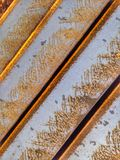 Abstract steel beams. Rusty steel beams stacked together Royalty Free Stock Photos
