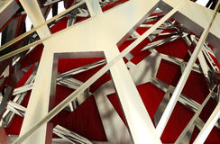 Abstract steel construction background Stock Photos