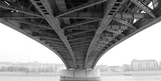 Free Abstract Steel Construction From Under The Bridge Stock Photography - 19372542