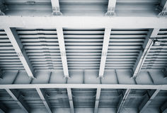 Abstract steel construction of modern bridge Royalty Free Stock Images