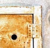 Abstract  steel    door   varese italy sumirago Stock Image