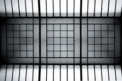 Abstract steel and glass structure Royalty Free Stock Photos