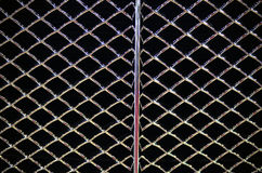 Abstract steel grid from car radiator, Black background Stock Photo