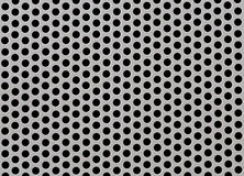Abstract Steel or Metal Textured Pattern with Round Cells Royalty Free Stock Image