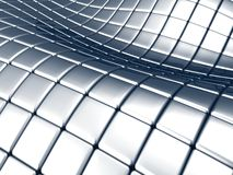 Abstract steel square background. Curve wave abstract steel square background Stock Photo