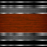 Abstract steel and wood business background Royalty Free Stock Images