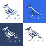 Abstract steller's jay set vector design Stock Photos