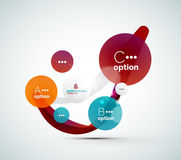 Abstract step infographics business layout Royalty Free Stock Photos