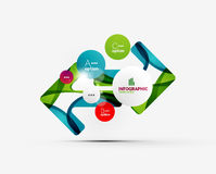 Abstract step infographics business layout Royalty Free Stock Photo