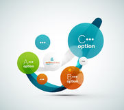 Abstract step infographics business layout Stock Image