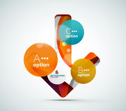 Abstract step infographics business layout Royalty Free Stock Images