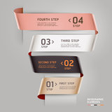 Abstract step up options ribbon style. Royalty Free Stock Photography