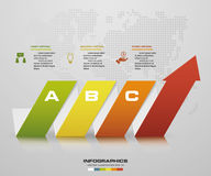 Abstract 3 steps arrow diagram. Step by step infographics illustration Royalty Free Stock Photos