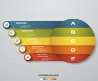 Abstract 5 steps business presentation template. Design clean number banners template. Vector. Abstract 5 steps business presentation template. Design clean royalty free illustration