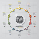 Abstract 10 steps circle infographics background. Number banners template. Royalty Free Stock Photography