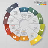 Abstract 10 steps circle/wheel infographis elements.Vector illustration. EPS10 Royalty Free Stock Photo