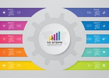 10 steps infographic element chart for data presentation. Abstract 10 steps infographic element chart for data presentation. EPS 10 royalty free illustration