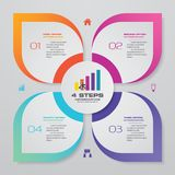 4 steps infographic element chart for data presentation. Abstract 4 steps infographic element chart for data presentation. EPS 10 stock illustration