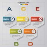 Abstract 5 steps infographic elements.Vector illustration. EPS10 royalty free illustration