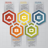 Abstract 5 steps infographics background. Number banners template. Abstract 5 steps infographics background. Number banners template/tags or website layout Royalty Free Stock Photography