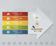 Abstract 5 steps infographics elements with arrow shape elements.Vector illustration. Align in horizontal dimension. EPS10 royalty free illustration