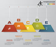 Abstract 5 steps infographics elements.Vector illustration.c. Abstract 5 steps infographics elements.Vector illustration. EPS10 Stock Illustration