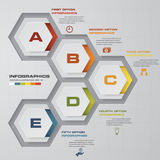 Abstract 5 steps infographics elements.Vector illustration. EPS10 Royalty Free Stock Images