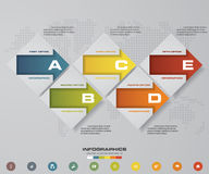 Abstract 5 steps infographics elements.Vector illustration. Abstract 5 steps infographics/timeline elements.Vector illustration. EPS10 Stock Photos