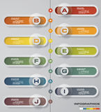 Abstract 10 steps infographics elements.Vector illustration. timeline presentation. Stock Photography