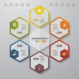 Abstract 6 steps infographics template. Infographics for business presentation. Royalty Free Stock Image