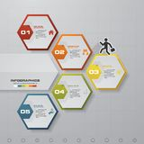 Abstract 5 steps infographics template. Infographics for business presentation. Timeline presentation. Stock Images