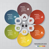 Abstract 6 steps infographis elements. EPS10. Abstract 6 steps infographis elements.Vector illustration Stock Illustration