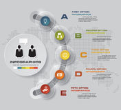 Abstract 5 steps infographis elements. EPS10. Abstract 5 steps infographis elements.Vector illustration Vector Illustration