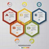 Abstract 5 steps infographis elements. EPS10. Abstract 5 steps infographis elements.Vector illustration Royalty Free Illustration
