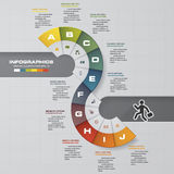 Abstract 10 steps infographis elements. Vector illustration Royalty Free Illustration