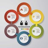 Abstract 6 steps infographis elements. Royalty Free Stock Photo