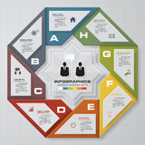 Abstract 8 steps infographis elements.Vector illustration. EPS10 Royalty Free Illustration
