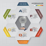Abstract 6 steps infographis elements.Vector illustration. EPS10 Stock Illustration