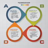 Abstract 4 steps infographis elements.Vector illustration. EPS10 Royalty Free Illustration