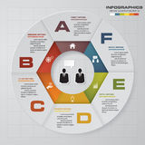 Abstract 6 steps infographis elements.Vector illustration. EPS10 Royalty Free Illustration