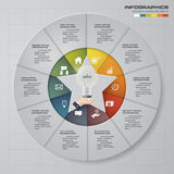 Abstract 10 steps infographis elements.Vector illustration. EPS10 Royalty Free Illustration