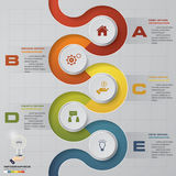 Abstract 5 steps infographis elements.Vector illustration. EPS10 Royalty Free Illustration