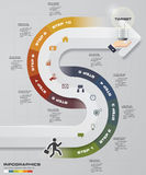 Abstract 10 steps infographis elements.Vector illustration. EPS10 Stock Illustration