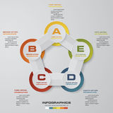 Abstract 5 steps infographis elements.Vector illustration. EPS10 Stock Illustration