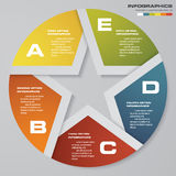 Abstract 5 steps modern pie chart infographics elements.Vector illustration. Stock Photo