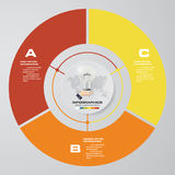 Abstract 3 steps modern pie chart infographics elements.Vector illustration. Stock Photos